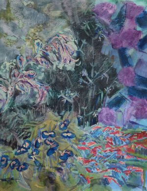 Plants Whispered In The Night - Landscape Painting